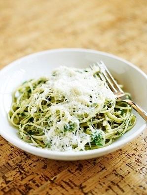 Mis recetas para variar - espagueti poblano